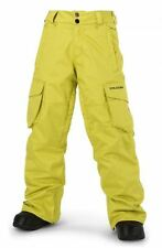 2016 NWT BOYS VOLCOM FOLSOM INSULATED SNOWBOARD PANT $140 M citronelle green