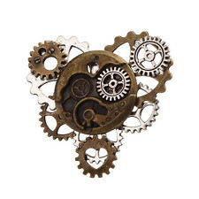 1pc Watch Movement Lapel Pin Badge Gear Brooch Collar Pin Steampunk Pin