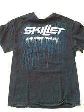 Skillet Band T Shirt Mens Size Medium Preowned Cotton Avalanche Tour 2011 SKU 9