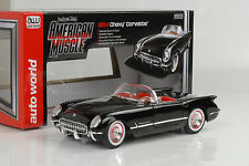 1954 Chevrolet Chevy Corvette Black/negro 1:18 auto World Ertl