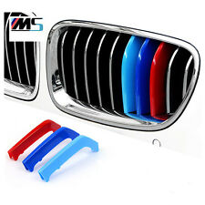 M Tri Color Front Grille Hood Decorative Car badge Fit For BMW X5 2014-15 X6 15