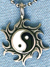 YIN YANG FENG SHUI PENDANT MENS BOYS NECKLACE CHAIN   PC0327