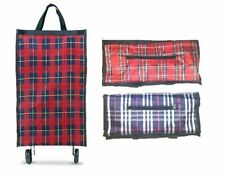 Large Folding Shopping Trolley Bag Cart Handbag Grocery Bag with 2 Wheels