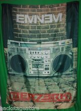 EMINEM Berzerk Radio Boombox Marshall Mathers Textile Fabric Cloth Poster Flag!