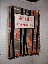 PSICANALISI E PERSONALITA Giuseppe Nuttin Paoline 1956 libro psicologia di