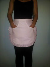 Blanco camarera Kitchen Cooking Maid media Musgo Escuela Apron with Front Pocket