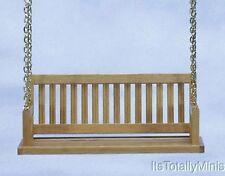 Dollhouse Miniature 1:12 Scale Porch Swing, Oak #CLA74082