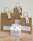 PERSONALISED LUXURY PAPER WEDDING GIFT BAGS PARTY FAVOUR WITH TISSUE BROWN