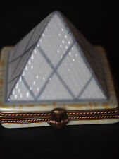 Limoges Louvre Museum Pyramid Egypt Pharaoh Hand Paint Main French Trinket Box