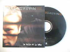 MARC GAUVIN : LA BELLE ET LE BETE ♦ CD SINGLE PORT GRATUIT ♦