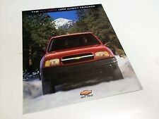 1999 Chevrolet Tracker Redesign Launch Preview Brochure