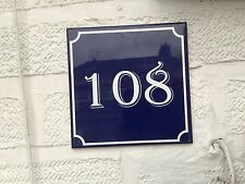 FRENCH STYLE HOUSE Number. Any Number You Like. Ceramic Tile
