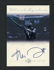 "2000-01 Ultimate Collection Ultimate Signatures Kevin Garnett  AUTO 1/1 "" RARE """