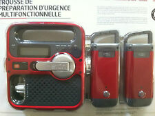 Rechargeable Weather Alert Radio with Solar Panel and 2 LED Flashlights