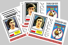 POLAND - 1974 WORLD CUP  SERIES 1 - COLLECTORS POSTCARD SET