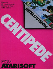 Centipede Intellivision INTV Game Cart - Tested Atarisoft