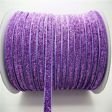 "5yards 3/8"" 10mm Sparkle Glitter Velvet Ribbon Headband Clips Bow Decorate AB10"