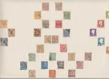 ICELAND ISLAND STAMPS OLD TIME ALBUM PAGE WITH RARE EARLY POSTAGE STAMPS