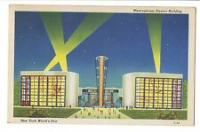 Vintage Postcard New York World's Fair 1939 Westinghouse Electric Building