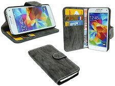 BOOK - Style case accessories Samsung Galaxy S5 Mini G800F Anthracite+ PROTECTOR