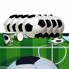 Football Soccer Children's Birthday Party Complete Tableware Kit Set Pack For 8