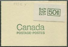 CANADA COMPLETE BOOKLET BK68b MINT VF NH