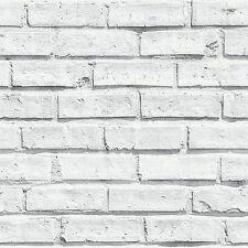 Arthouse Blanc Mur De Briques Texturé Motif Luxe Papier Peint Mural - 623004