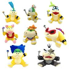 8X Super Mario Plush Bowser Koopa Kids Baby Jr Koopalings Larry Lemmy Ludwig ETC