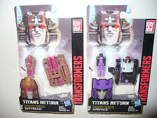 Lot of 2, Transformers Titans Return - Titan Master Figure - Apeface & Skytread
