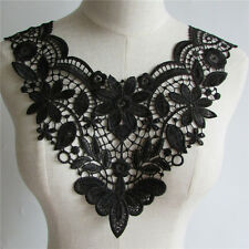 auction black Lace Embroidered Venise Neckline Neck Collar Sewing Applique YL57