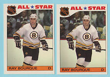 Lot of (2) 1985-86 Topps All-Star Stickers Ray Bourque Boston Bruins #5 (KCR)