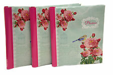Arpan 3 x Spiral Bound Self Adhesive Photo Album Vintage Bird -120 Sides -CG20X3