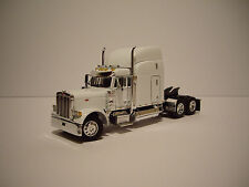 DCP 1/64 WHITE 379 PETERBILT WITH 63'' MID-ROOF SLEEPER AND AIR FOIL