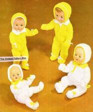"""BABY DOLL PRAM SET 8ply / 10,12,14 & 16"""" - doll knitting pattern"""