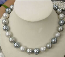 """8mm Multicolor south sea shell pearl necklace 18"""" LL008"""