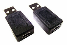 From OZ Quality 2PC USB 2.0 Male to USB Mini B Female Adaptor Connector FREEPOST