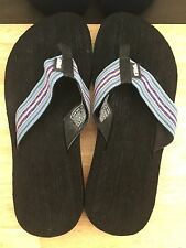 Men's Blue & Black TEVA Flip Flops/ Size 8 (40.5) Good Preowned Condition