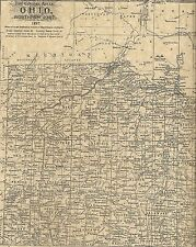 Ohio Towns Detailed 1897 Maps with Cleveland and Cincinnati