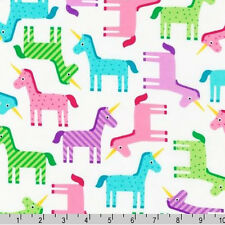 BY YARD-Wonder Unicorns Unicorn Fabric Robert Kaufman AAK-14575-287 Sweet