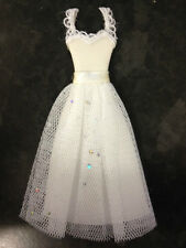 WHITE FABRIC WEDDING GOWN DRESS CARD MAKING SCRAPBOOKING CRAFT EMBELLISHMENT