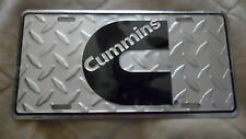 License plate tag Cummins Logo with Diamond plate New