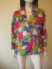 MARNI Bright Multi Color 1970's inspired Floral Retro Style Crop JACKET Size 44