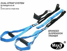 MaxGym® trainer. Body Trainer. Suspension Straps. Home Fitness Oryginal blue