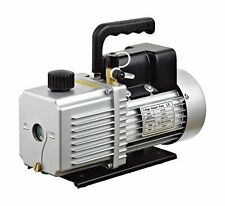 "HFS 12 CFM Vacuum Pump Two Stage 110V 1HP - INLET: 1/4"" & 3/8"" SAE – For 1.9 Ove"