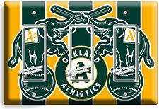 AS OAKLAND ATHLETICS BASEBALL TEAM TRIPLE GFI LIGHT SWITCH WALL PLATE COVER ROOM