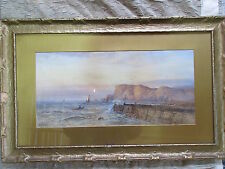 Beautiful Antique Seascape Watercolor Painting William Henry Earp British b.1854
