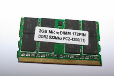 Barrette mémoire RAM MicroDIMM 172PIN 2go/gb DDR2 533MHz PC2-4200