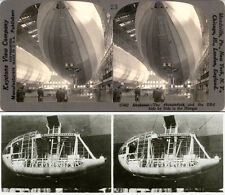 24 STEREOVIEWS AIRSHIP LOS ANGELES, ZEPPELIN LZ 126, ZR 3