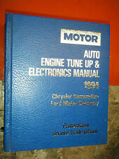 1991-94 MOTOR AUTO TUNE UP ELECTRONICS SERVICE MANUAL FORD DODGE CHRYSLER EAGLE