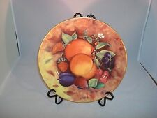 Limoges (Email de) Still Life Peach Plate Veritable Porcelain 2